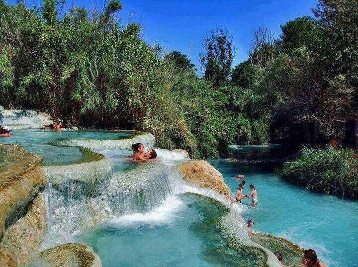thermal pools destinations in Europe: saturnia thermal pools